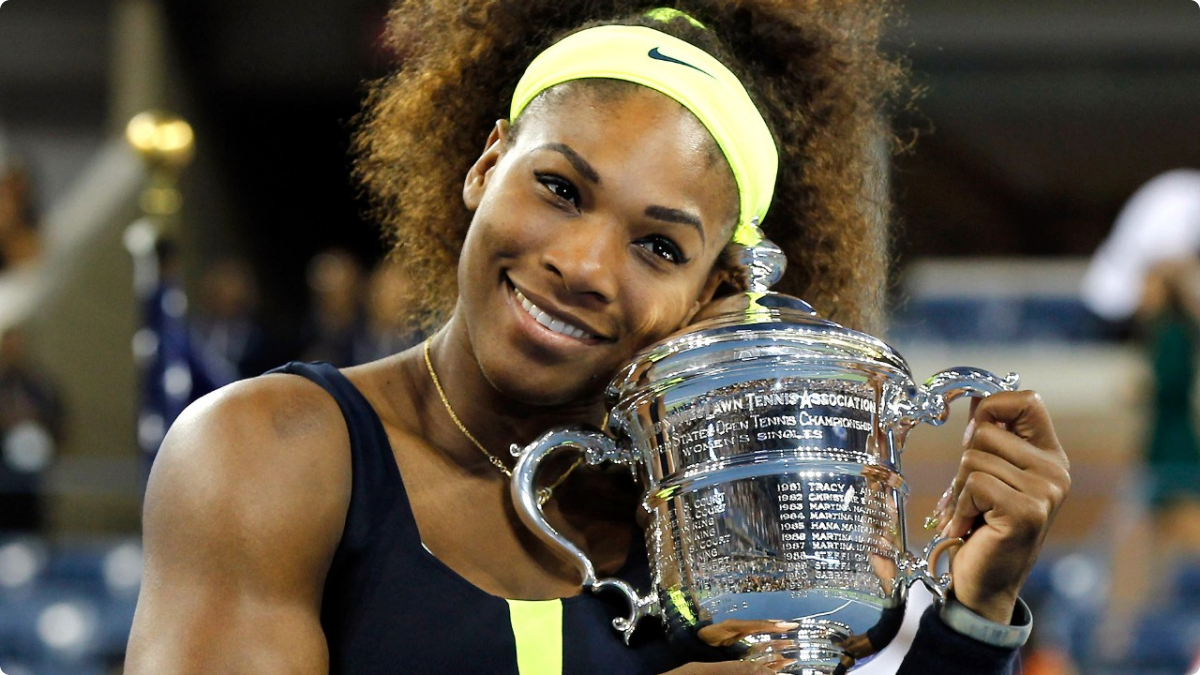 fantastic serena williams smiling face with cup still hd mobile desktop background free photos