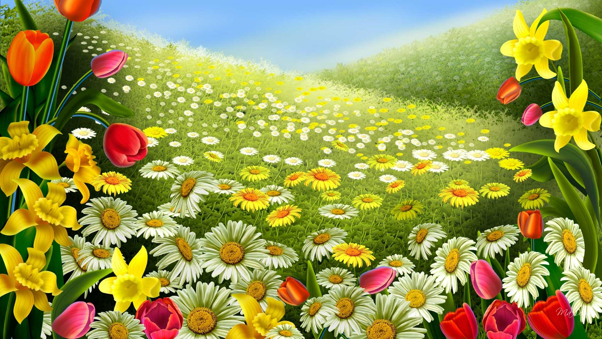 best sunflower painting spring wallpapers free download for desktop