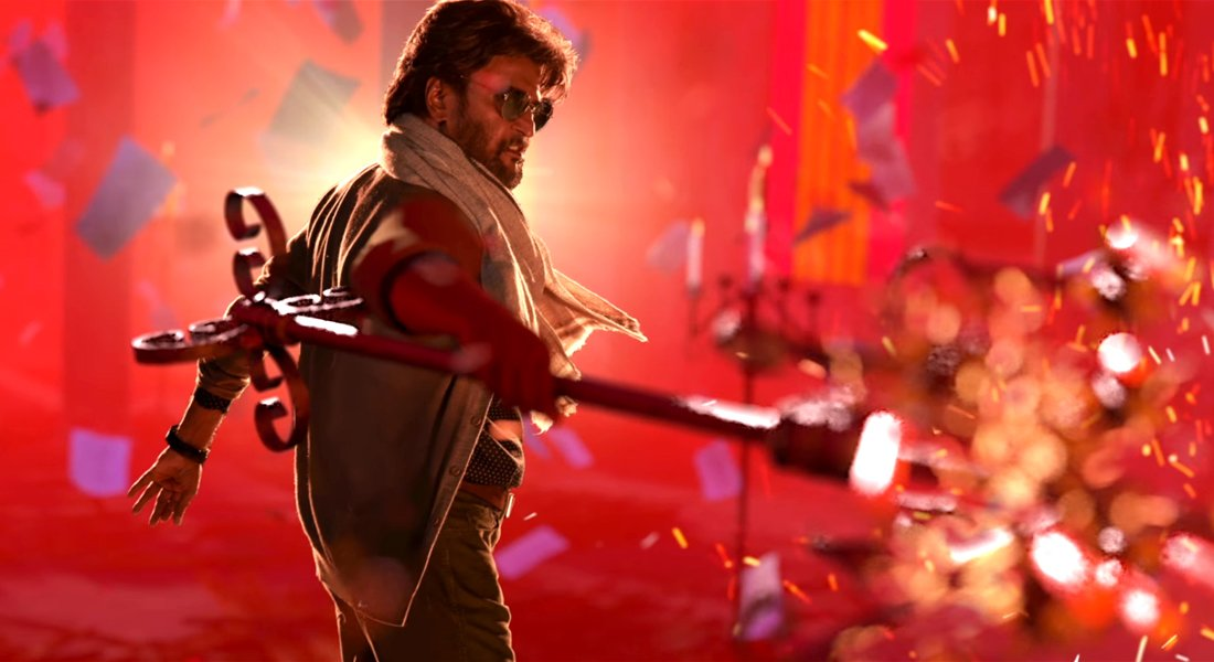 petta rajini hd images action still