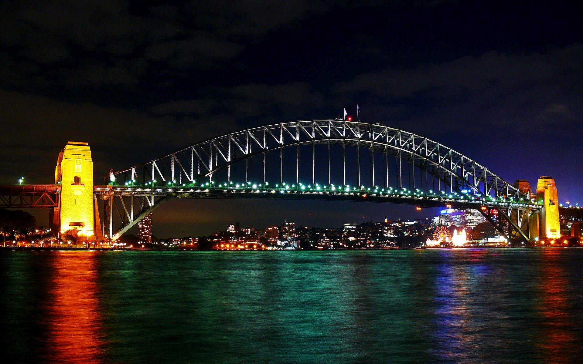 sydney harbour bridge at night light laptop backgrounds free high definition stunning free wallpapers download