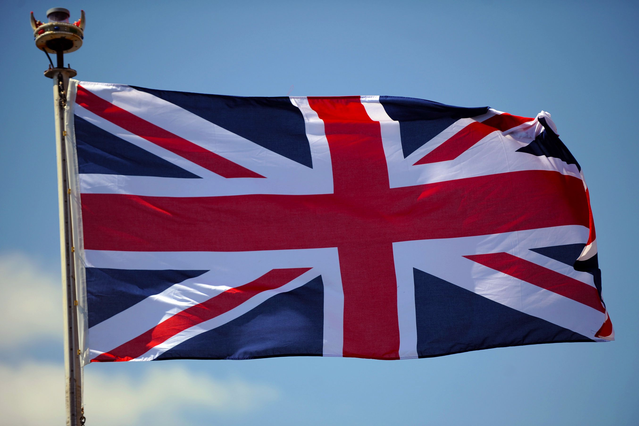 british flag waving on air new wallpape download