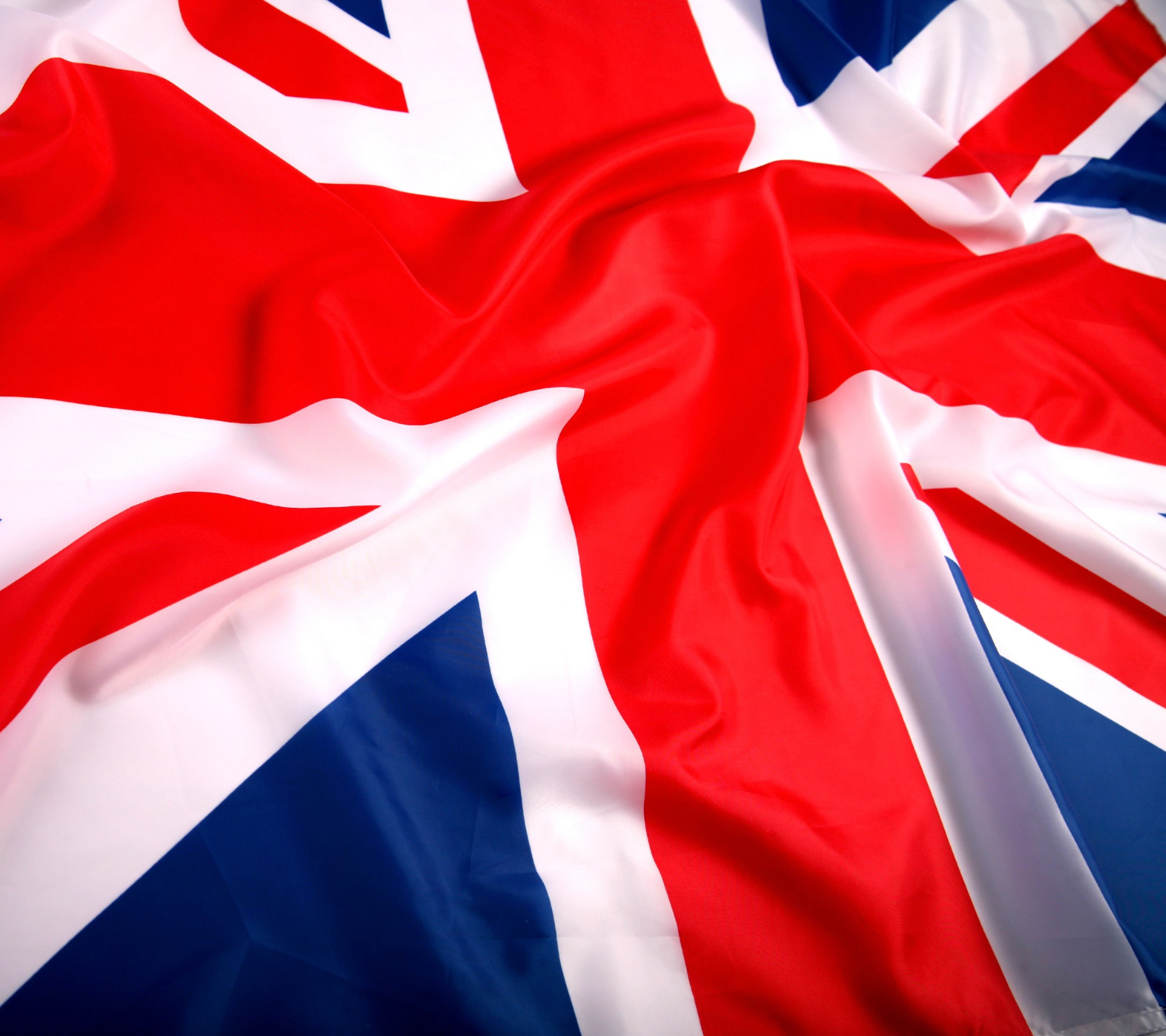 closer view uk british flag waving image