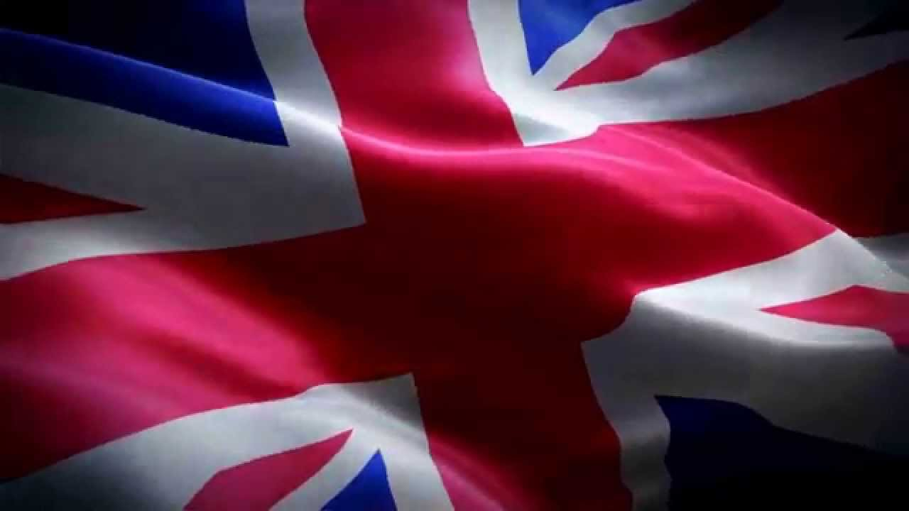 waving union jack flag deskrop wallpaper hd