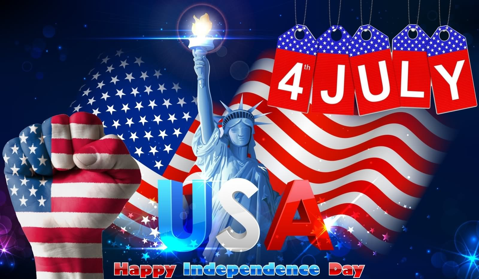 unites states 4th July independence day greeting for facebook cover wallpaper