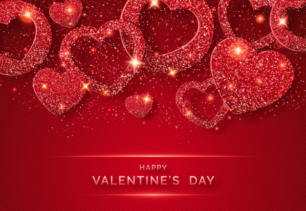 beautiful happy valentines day red hearts images pic wallpaper download
