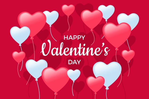 hearts balloons happy valentines day hd greetings free photos download