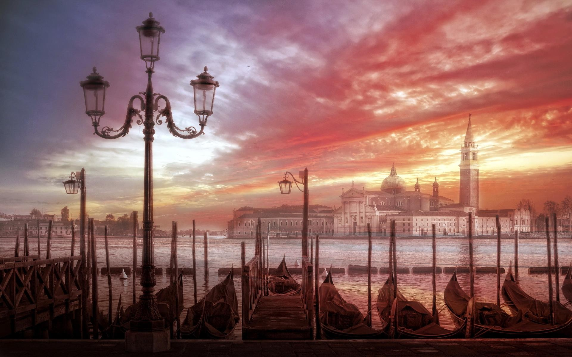 sunset on venice italy chaming pics download