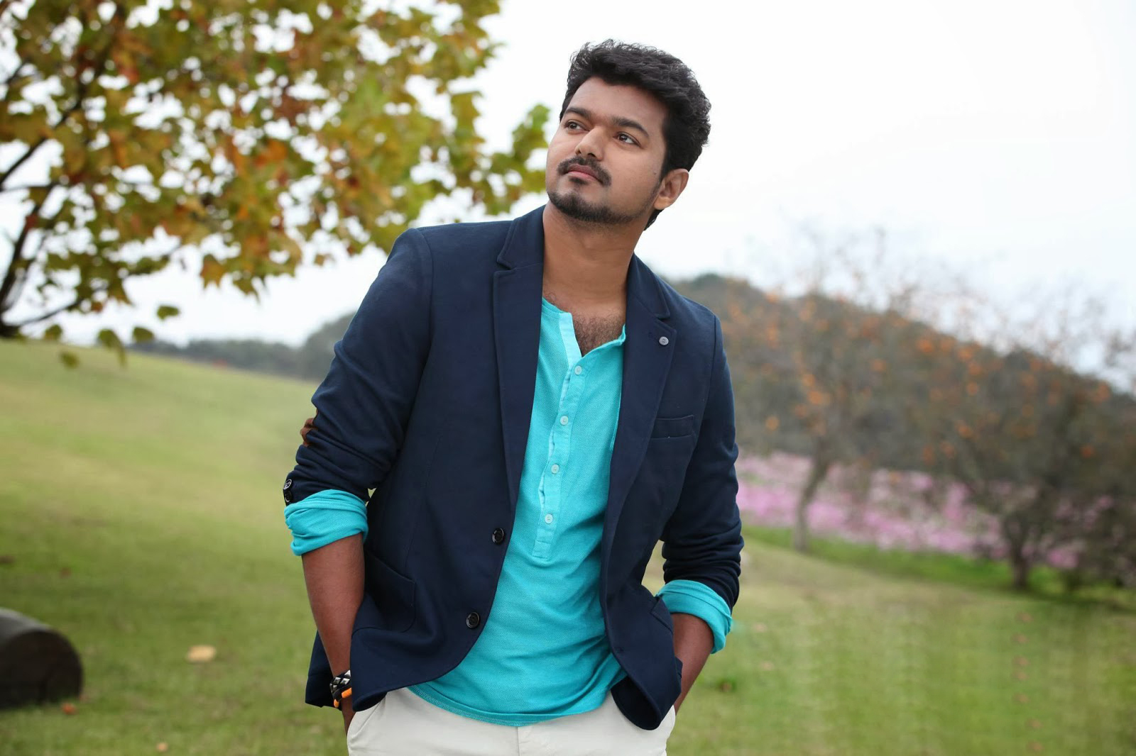 Beautiful Looking Ilayathalapathi Vijay Mobile Desktop Download Wallpapers
