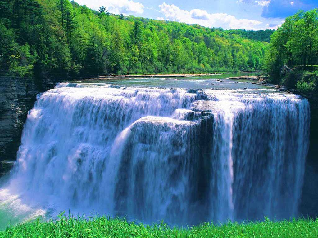 big fact waterfall wallpaper nature images desktop download