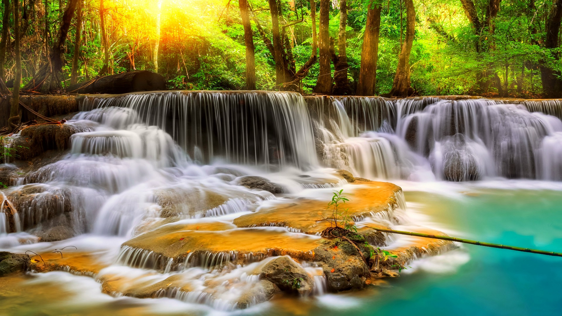 Waterfalls Beautiful Hd Wallpaper Free For Desktop