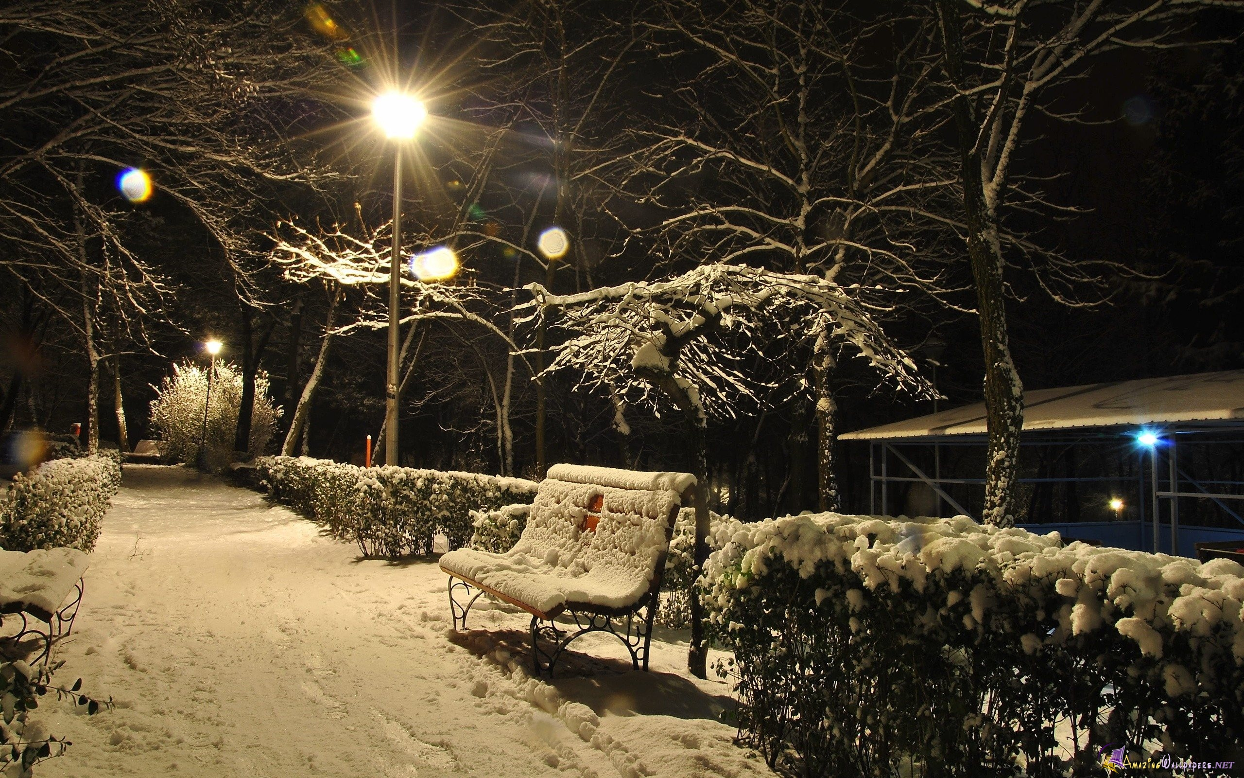 amazing night winter picture light views hd images