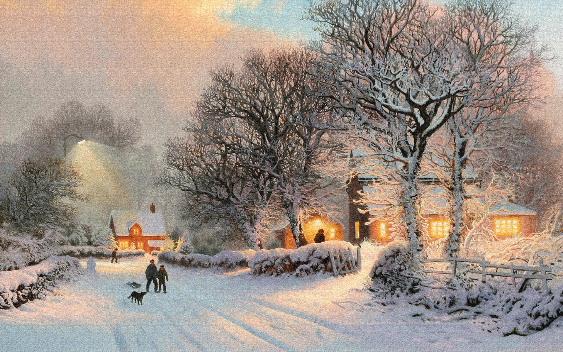 Oil Paint Of Winter Look Amazing Art Download Images