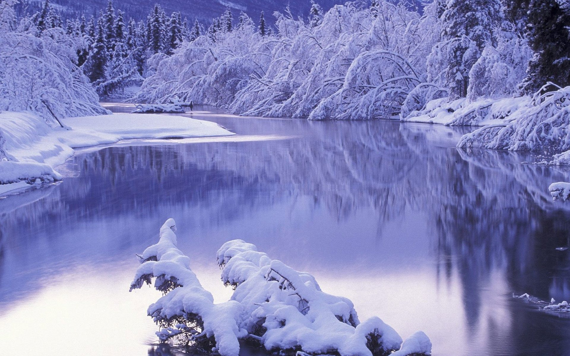 winter river hd photos and wallpaper picture views for desktop